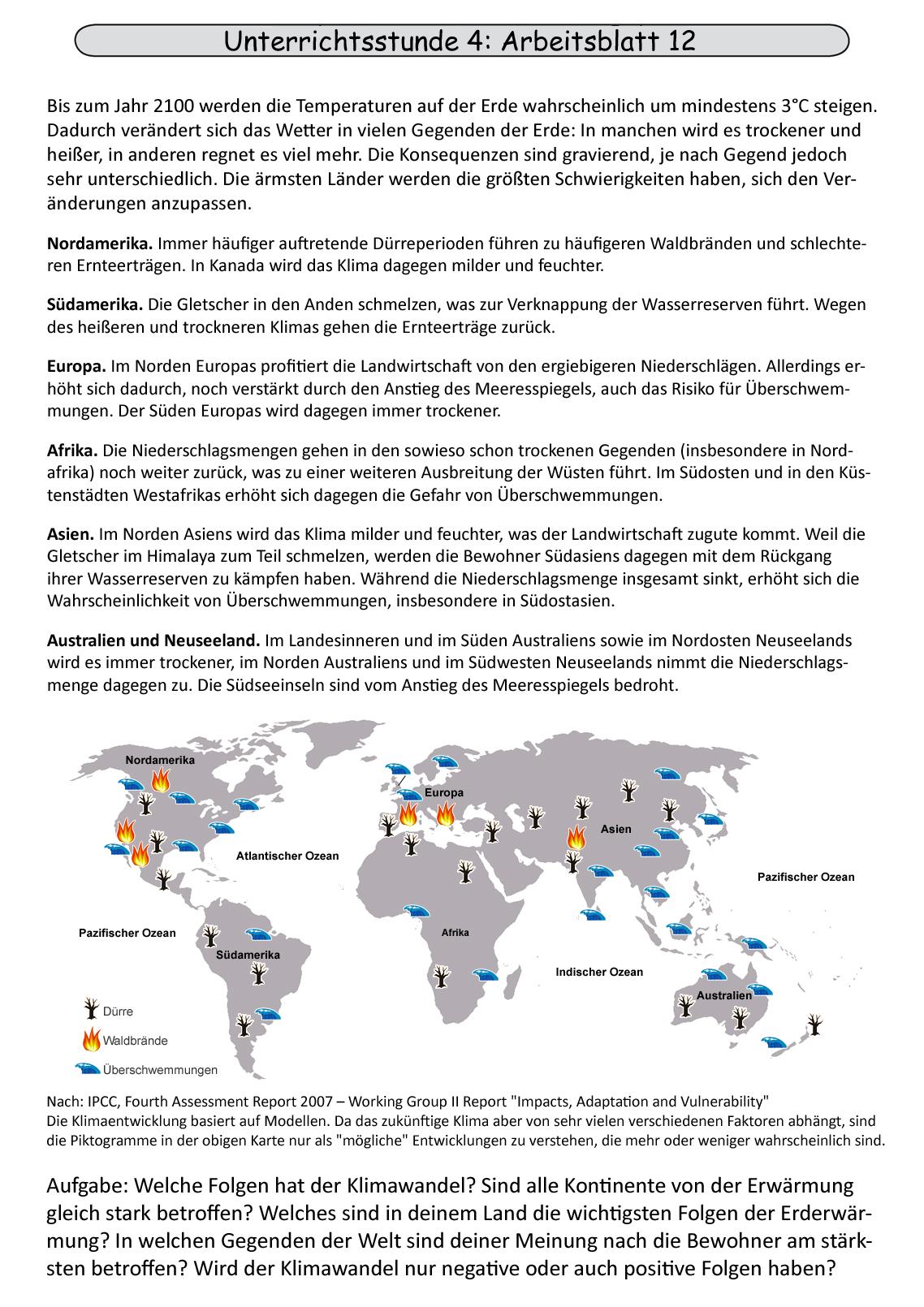 Unterrichtsstunde 4: Folgen des Klimawandels für Gesundheit und ...