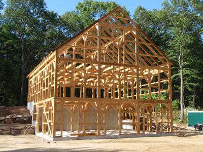 Holzskelettbau detail  Mein Haus, mein Planet und ich! – wissenschaftliche Hintergründe